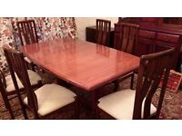 mahogany table & 6 chairs
