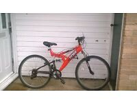 mens 18 speed front,back suspention mountain bike for sale in working order spares repairs