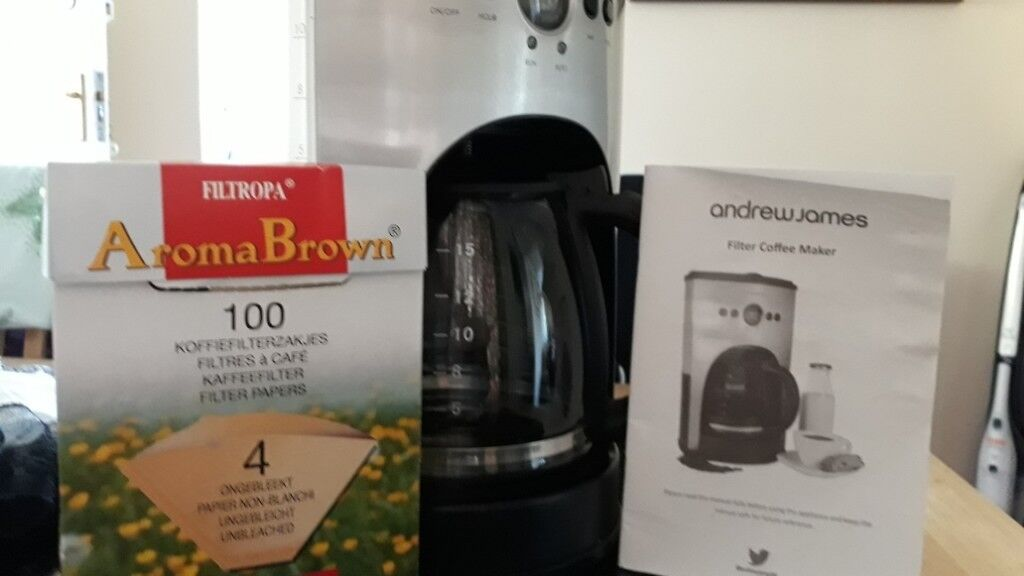 1100w Auto Filter Coffee Machine Andrew James Used X2 98 Bags Inc Manual Stainless Steel Finish In Stanley West Yorkshire Gumtree