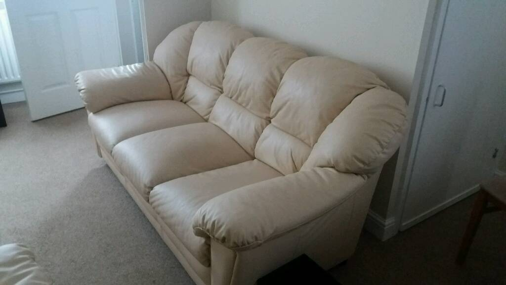 Leather Sofas - matching 3 seater and 2 seater
