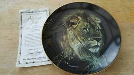 Limited edition African Lion plate