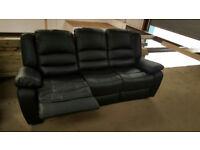 WINTER SALE Brand New Premium Recliner Campo Faux Leather Three Seat Sofa £270