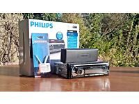 Philips car stereo 50w X4 with head release keys