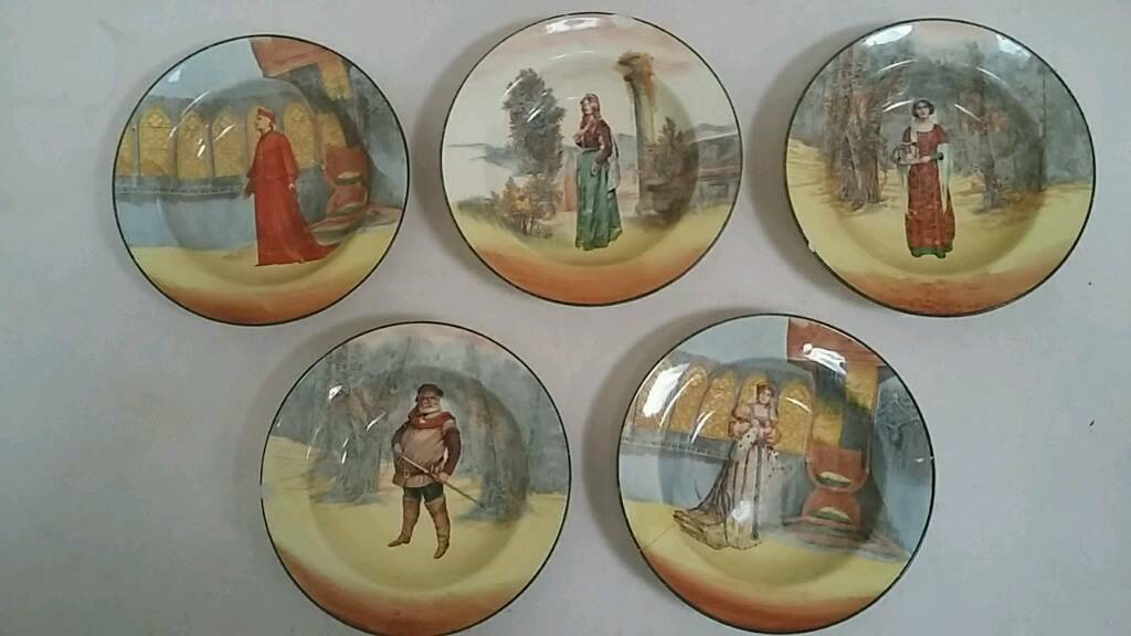 Royal Doulton Shakespeare character bowls
