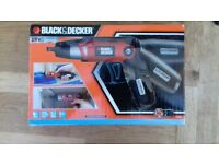 Black & Decker cordless screwdriver NEW tool