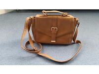 Atmosphere Light Brown Handbag, Zips, Good condition, Contact me soon as, Cheap price at £3