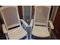 Allibert Folding Sun Chairs With Removable Covers