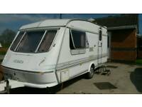 Elddis hurricane GT 2-6 birth lightweight caravan