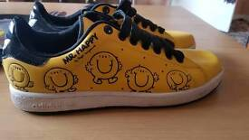 "RARE!! Adidas Stan Smith ""Mr Happy"" trainers"