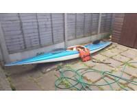 13ft fibre glass canoe