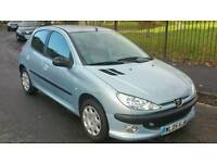 PEUGEOT 206 1.1 WITH 12 MONTH MOT AND 3 MONTH WARRANTY GOOD TYRES
