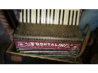 Vintage Italian - Frontalini 1930s Accordian and case - £35 ovno