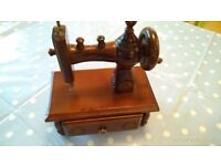 Collectors' Wooden Model Sewing machine or toy.