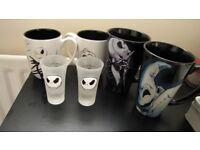 Disney Tim Burton The Nightmare Before Christmas mugs and shotglasses - NEW & OFFICIAL DISNEY MERCH
