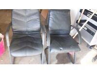 2 leather chairs 25 pounds each