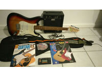Axl electric guitar & Amplifier setup