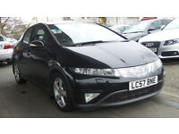 2007 HONDA CIVIC 2.2 EX I-CTDI 5d 139 BHP **PART EX TO CLEAR**DRIVES VERY WELL**