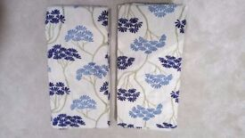 Serenity Navy curtains with thermal lining