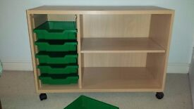 Gratnells school storage unit - great for kids rooms! Good condition