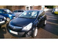 2013 VAUXHALL CORSA 1.4 SE 5 DOOR HATCH TOP SPEC IN BLACK NEW MOT ONLY 41K WITH F/S/HISTORY ALLOYS +