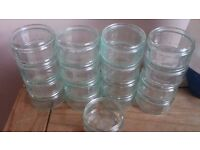 17 Gu containers - small glass dishes
