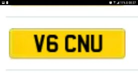 'V6 CNU' (v6 seeinU) cherished private number plate certifacate
