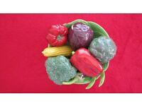 ceramic kitchen vegetables