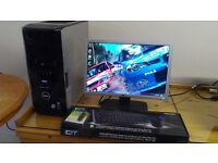 """SAVE £40 VERY FAST CAD SSD Dell XPS 420 minecraft Quad Gaming Desktop Computer PC & Dell 21"""" LCD"""
