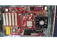 VINTAGE COMPUTER MOTHERBOARDS WITH CPU & RAM