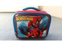 2 Spiderman Lunch Bags, Red and Blue, Tags, Good condition, Contact me soon as, Cheap price BOTH £5