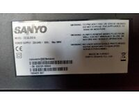 SANYO CE32LD33-B LCD TV SMASHED SCREEN SPARE OR REPAIR