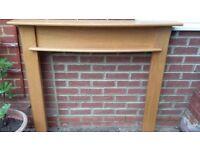 Hard wood fireplace surround