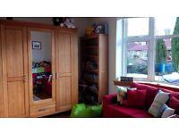 Solid Oak Wardrobe with Mirror Door