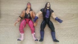 WWF JAKKS Bret Hart and Undertaker - 1996
