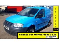 Finance-£125 P/M - VW-Volkswagen Caddy C20 2.0 SDI SWB Van -Air Con- 1 Owner-Bgas 36K- FSH- 1YR MOT