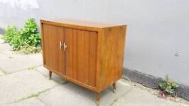 Vinyl records storage cabinet vintage