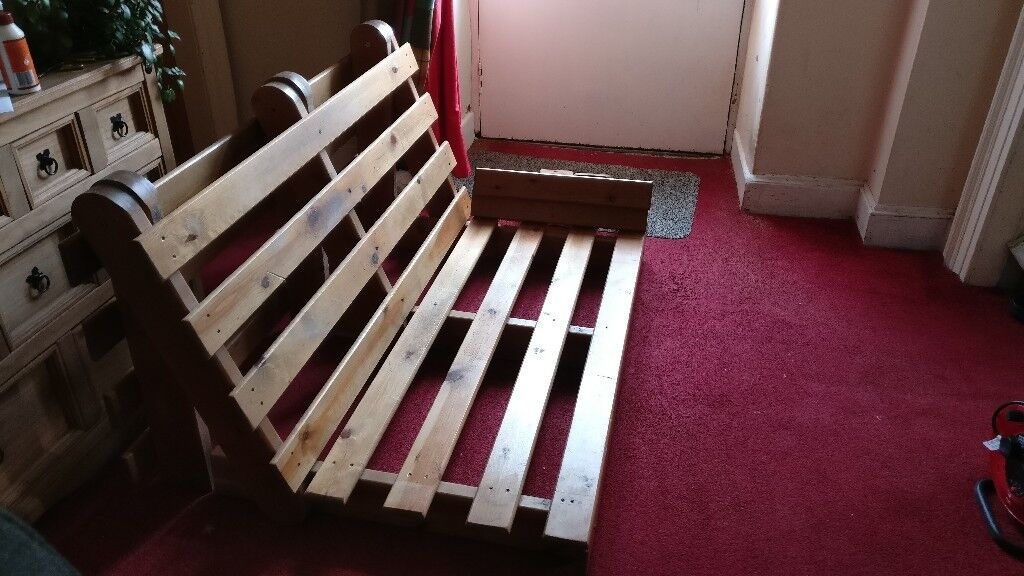 Sofabed Futon Style Base Only Needs Or Mattress Good Strong Pine Wood