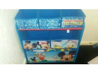 mickey mouse toy storage unit