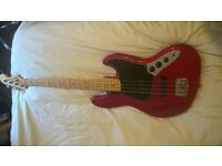 2012 FENDER AMERICAN SPECIAL USA RED JAZZ BASS + CASE