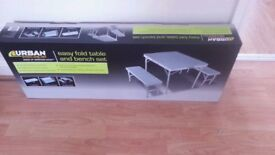Brand New Folding Table and Bench Set