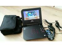 7 inch portable dvd complete with remote control and charger