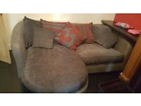 Large l shaped sofa . 1 year old from sofa works