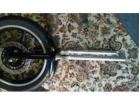 Yamaha Virago XV750 forks, wheel, headlight, brakes etc. spares for sale