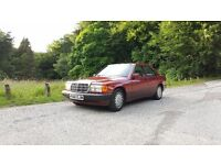 MERCEDES BENZ 190E 1.8 AUTO RED MANY THOUSANDS SPENT