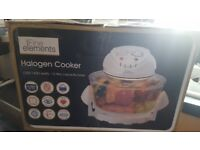 White Halogen Oven Cooker 12 liters 1200 - 1400 W