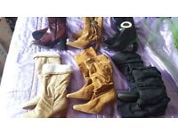 Job Lot 55 Pairs Ladies shoes/boots Size 3 Some new unworn GREAT FOR RESALE! Less than £1.10 a pair!