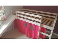 Midsleeper bed with slide