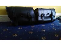 pair of lockable harly davidson sportster luggage bags