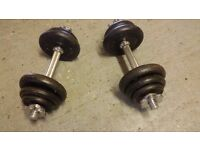 2 Dumbells Gym weights (Free Local Delivery)