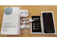 Samsung Galaxy A3 (6) 2016 - Great, As New Condition! Unlocked. + 3 Gel Cases & 2 Screen Protectors.